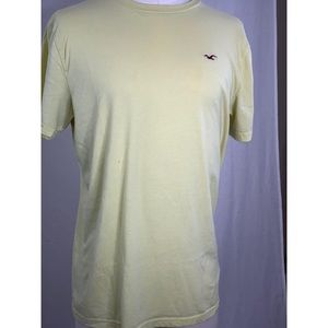 Hollister Co Yellow Cream Colored T Shirt